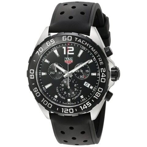 Tag Heuer Men's CAZ1010.FT8024 'Formula One' Chronograph Black Rubber Watch