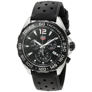 Tag Heuer Men's 'Formula One' Chronograph Black Rubber Watch