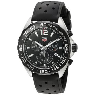 Link to Tag Heuer Men's CAZ1010.FT8024 'Formula One' Chronograph Black Rubber Watch Similar Items in Men's Watches