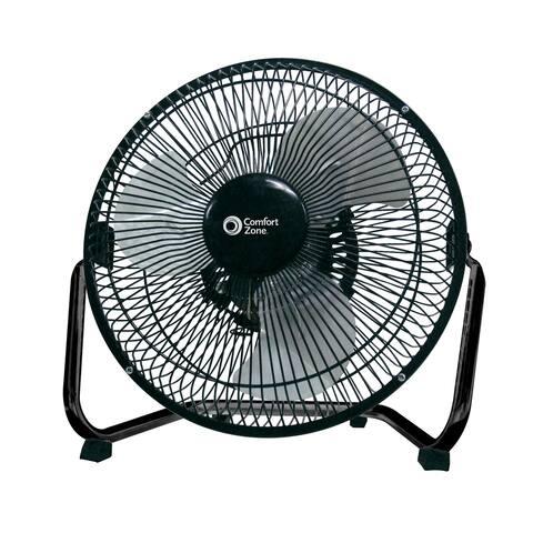 Comfort Zone CZHV9B 9-inch High Velocity 3-Speed Floor Fan with 180-Degree Tilt