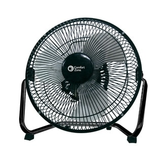 "Comfort Zone CZHV9B 9"" 3 Speed High Velocity Cradle Fan"