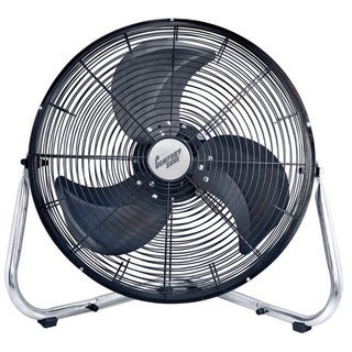 "Comfort Zone CZHV18B 18"" 3-Speed High Velocity Cradle Fan"