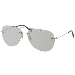 Prada Sport PS50PS-1BC2B0 (63) Aviator Grey Mirror Silver Sunglasses