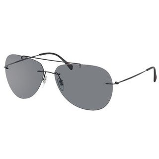 Prada Sport PS50PS-1BO1A1 (60) Aviator Grey Sunglasses