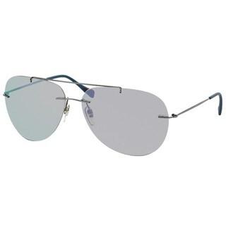Prada Sport PS50PS-5AV2E2 (63) Aviator Mirror Blue Sunglasses