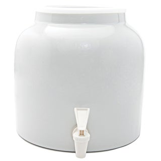 Goldwell Enterprises Inc DW141 2-1/2 Gal White Porcelain Water Dispenser Crock