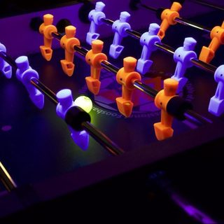Warrior Professional Black-light Foosball Table