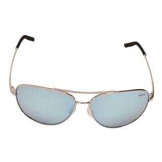 Revo Men's RE 3087 03 BL Windspeed Sunglasses With Chrome Frame and Blue Water Serilium Lens