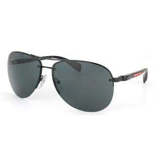 Prada Sport PS56MS-7AX3O1 (62) Aviator Gray Green Sunglasses