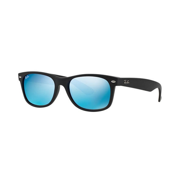 8ce1fe5992 Shop Ray-Ban RB2132-622 17(55) Square Grey Mirror Blue Sunglasses ...
