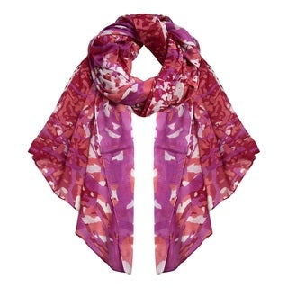 Peach Couture Abstract-print Lightweight Cotton Multipurpose Scarf
