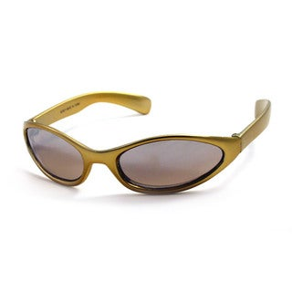 UrbanSpecs B23021-gold Round Grey with Silver Flash Sunglasses