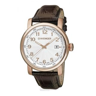 Wenger Women's 01.1021.114 'Hodinky' Brown Leather Watch