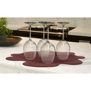 Epicureanist Silicone Stemware Drying Mat, 4 Mats