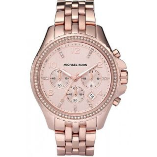 Michael Kors Women's MK5425 'Pilot 54' Chronograph Crystal Rose-Tone Stainless Steel Watch