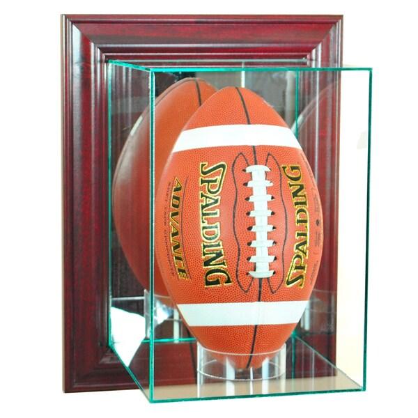 Wall Mounted Cherry Finish Upright Football