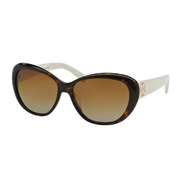 1373cbb05374 Tory Burch TY7005-1327T5 Cateye Brown Gradient Polarized Sunglasses