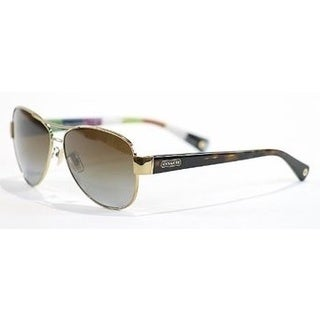 Coach HC7003-9013T5 Aviator Brown Gradient Polarized Sunglasses