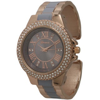 Olivia Pratt Women's Metal/Stainless Steel Fashionable Rhinestone Accented Watch