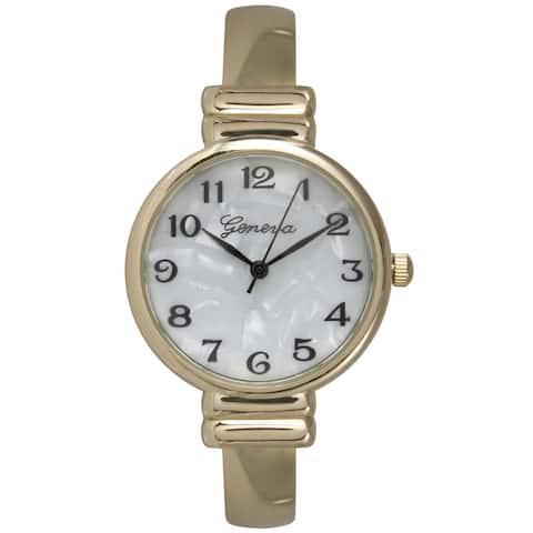 Olivia Pratt Women's Goldtone Stainless Steel Bangle Watch