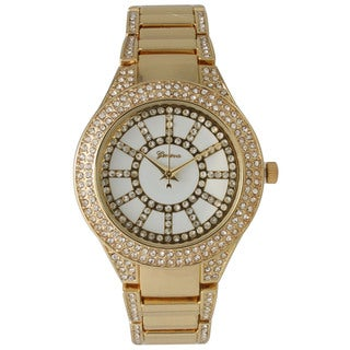 Olivia Pratt Women's Good-looking Rhinestone Accented Watch