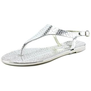 Cape Robbin Women's 'Arsenio-MB-1' Silver Synthetic Sandals