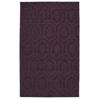 "Trends Purple Loft Wool Rug (3'6"" x 5'6"")"