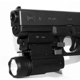 Trinity Black Aluminum Compact Flashlight & Red Laser Combo For Glock 17