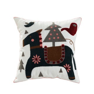 eLIGHT Colt Cotton/Polyester Embroidered Throw Pillow