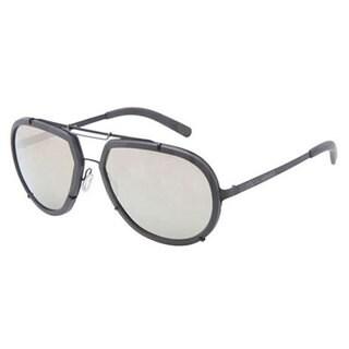 Dolce & Gabbana DG2132/S-11066G Aviator Light Brown Mirror Gold Sunglasses