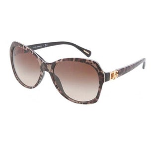 Dolce & Gabbana DG4163P-199513 Oversized Brown Gradient Sunglasses