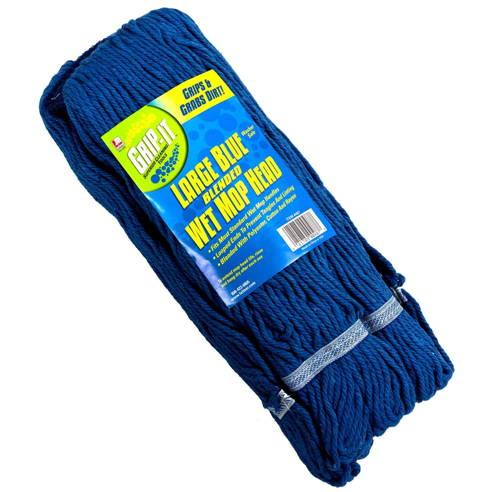 Laitner Brush Company 487 4 Ply Large Blue Looped Mop Head (Mop Head Lg Blublend)