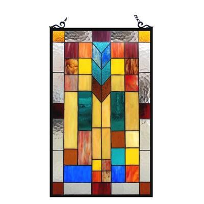 Chloe Tiffany Style Mission Design Window Panel/Suncatcher