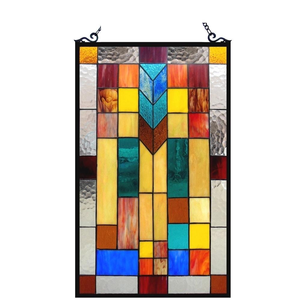 Chloe Tiffany Style Mission Design Window Panel/Suncatche...