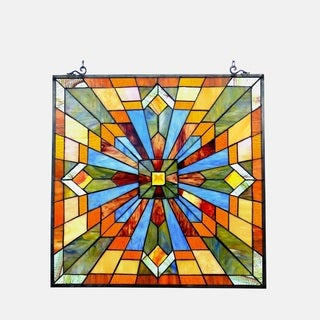 Chloe Tiffany Style Mission Design Window Panel/Suncatcher - M