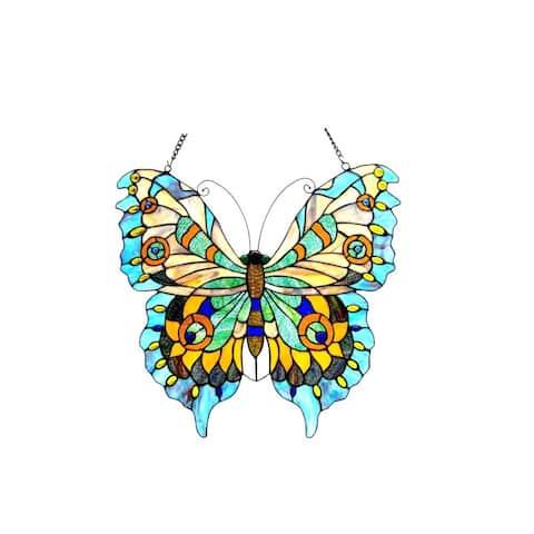 Chloe Tiffany Style Butterfly Design Window Panel/Suncatcher