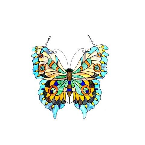 Chloe Tiffany Style Butterfly Design Window Panel/Suncatcher - M