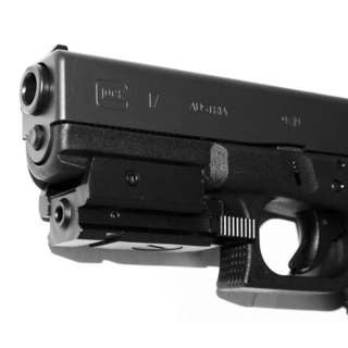 Trinity Black Aluminum Tactical Red Laser for Glock Model 17