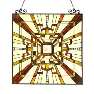 Chloe Tiffany Style Mission Design Window Panel/Suncatcher - M