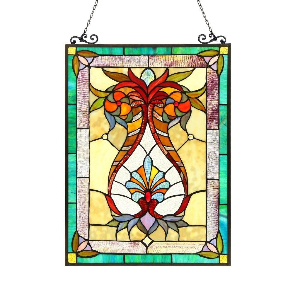 Chloe Tiffany Style Victorian Design Window Panel/Suncatc...