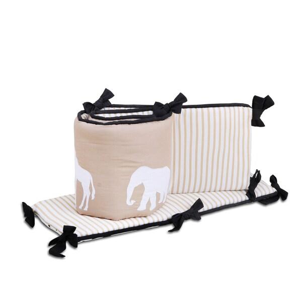 The Peanut Shell Safari Reversible Crib Bumper