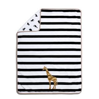 Farallon The Peanut Shell Safari Black/White Polyester Velour Giraffe Blanket|https://ak1.ostkcdn.com/images/products/12488420/P19297269.jpg?impolicy=medium