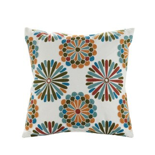 eLight Madalyn Cotton/Polyester 18-inch Embroidered Throw Pillow