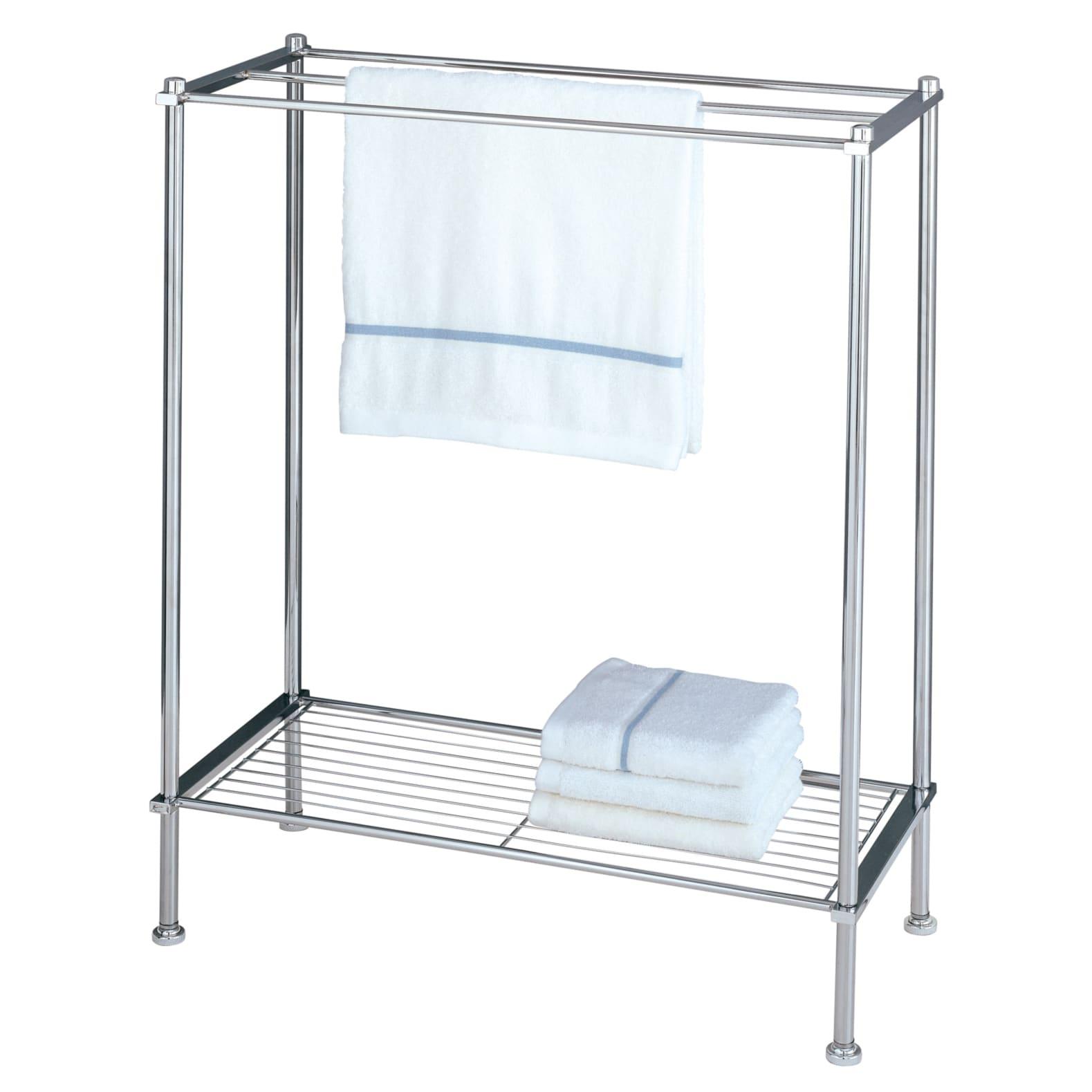 Organize It All Freestanding 3 Tier Chrome Bathroom Towel Rack