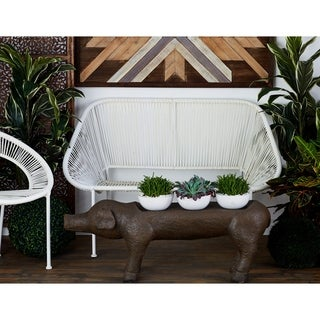 MTL Great Outdoors White Plastic Bench (50' x34')