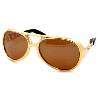 UrbanSpecs LR99502-GLD Aviator Brown Sunglasses