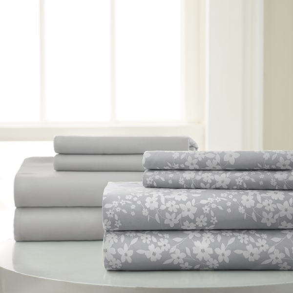 Amrapur Overseas 8-Piece Floral Printed & Solid Sheet Set
