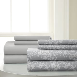 Amrapur Overseas 8-Piece Floral Printed and Solid Sheet Set