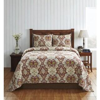 Cottage Home Giselle 3-piece Cotton Floral Quilt Set