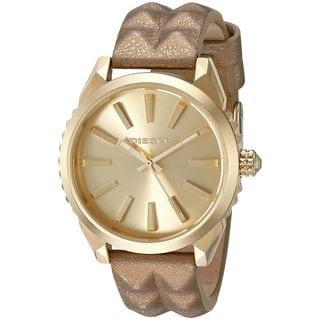 Diesel Women's DZ5516 'Nuki' Gold-Tone Leather Watch